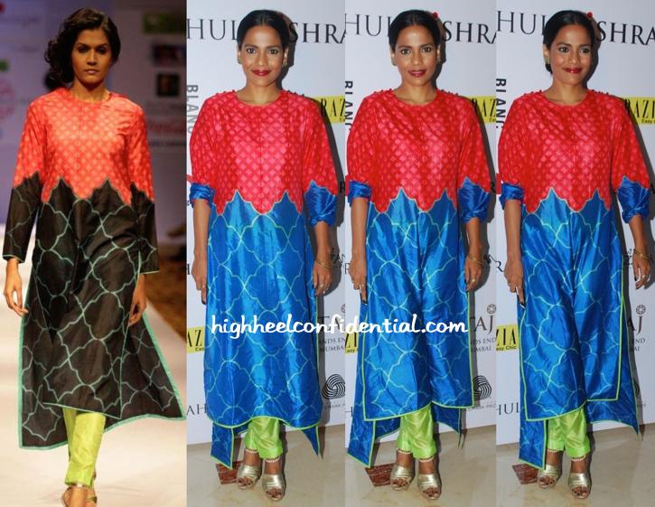 Priyanka Bose In Swati Vijaivargie At Grazia Do For Rahul Mishra