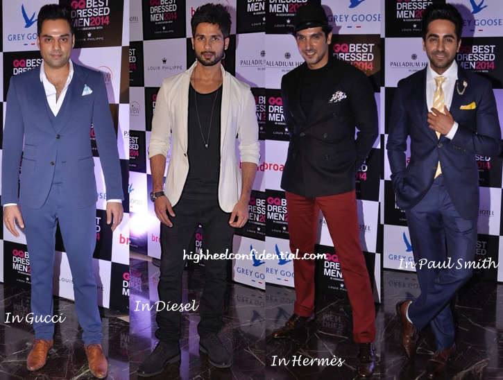 Rahul Khanna, Saif Ali Khan, Shahid Kapoor, Abhay Deol, Ayushman Khurana And Others At GQ Best Dressed Men 2014-2