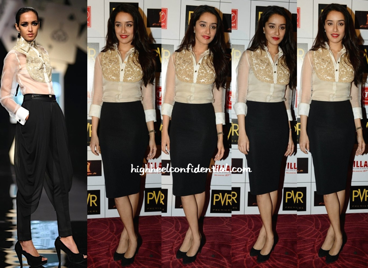 Shraddha Kapoor Wears Pankaj And Nidhi To 'Ek Villain' Promotions In Delhi-1