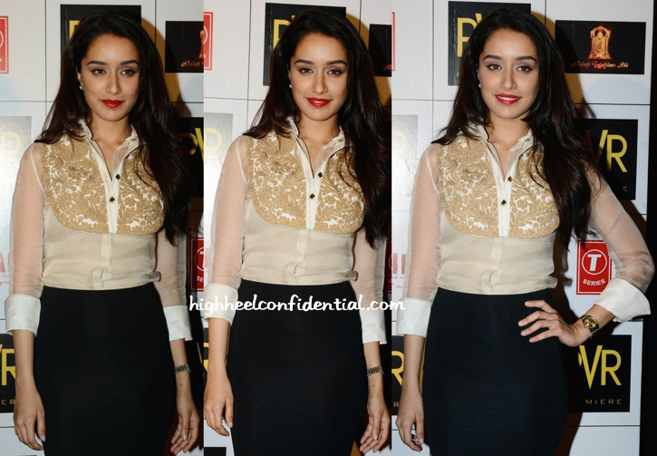 Shraddha Kapoor Wears Pankaj And Nidhi To 'Ek Villain' Promotions In Delhi-2