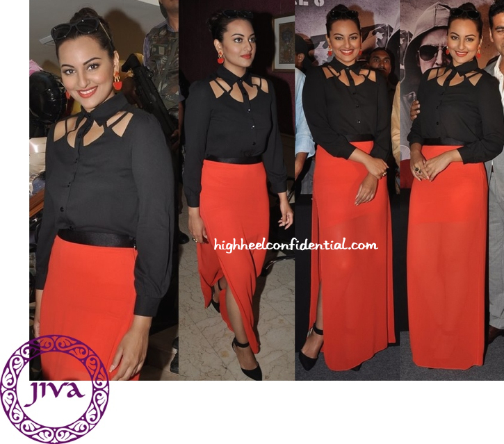 Sonakshi Sinha In Bebe At 'Holiday' Promotions-1