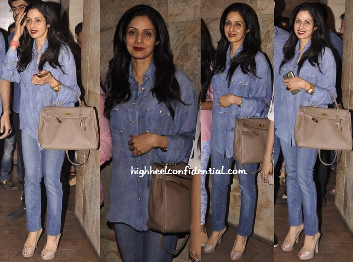 Sridevi At 'Fugly' Screening In Balmain