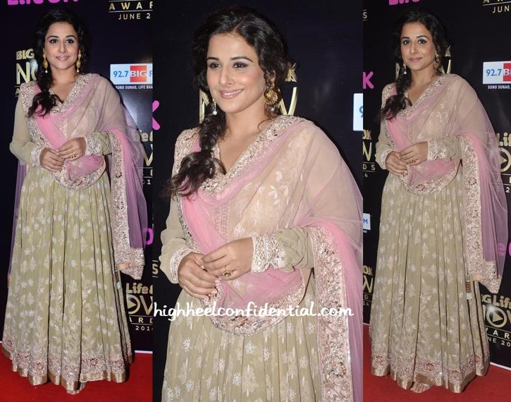 Vidya Balan In Manish Malhotra At Life OK Awards-1
