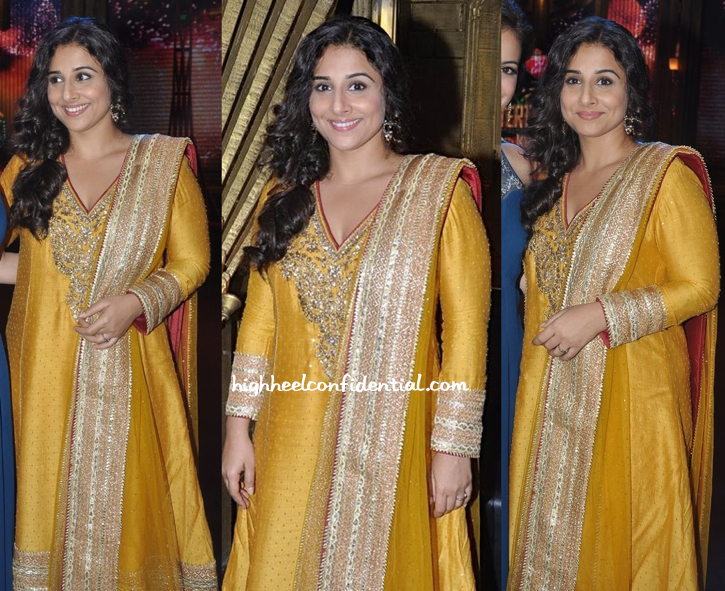 Vidya Balan In Ritu Kumar On entertainment ke liye kuch bhi karega sets For bobby jasoos-2