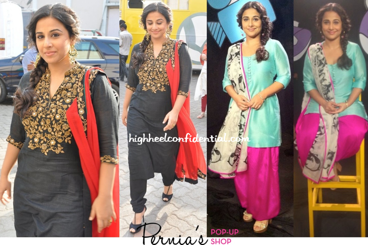 Vidya Balan On 'The Front Row' Sets In Tisha Saksena And In Payal Singhal On 'Captain Tiao' Sets