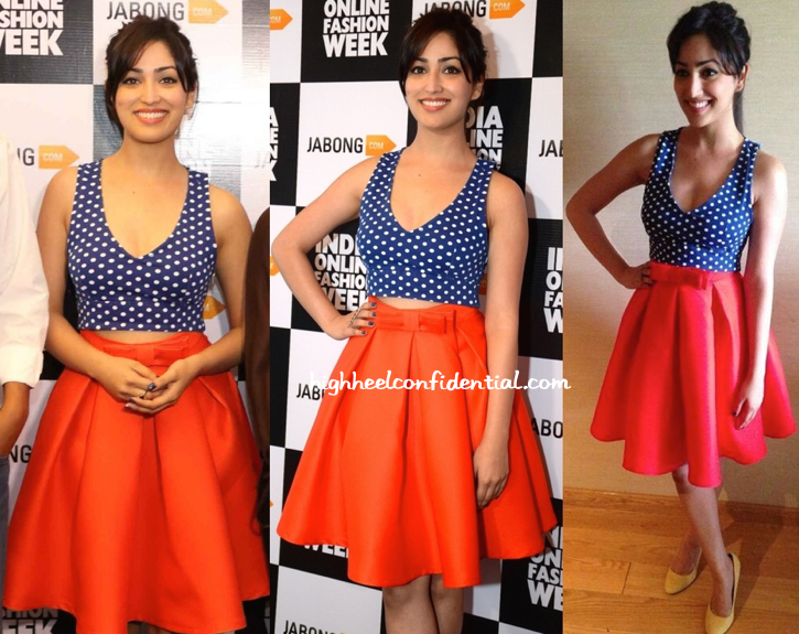 Yami Gautam In Zara And The Source At India Online Fashion Week Launch