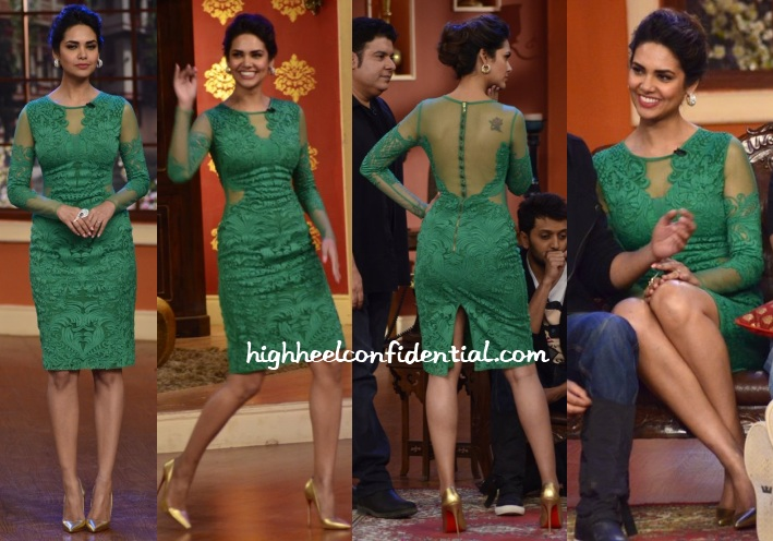 esha-gupta-pankaj-nidhi-comedy-nights-humshakals-promotions