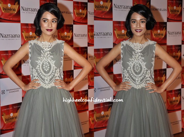 Amrita Rao In Rocky S At Gemfields Retail Jeweller India Awards 2014-2