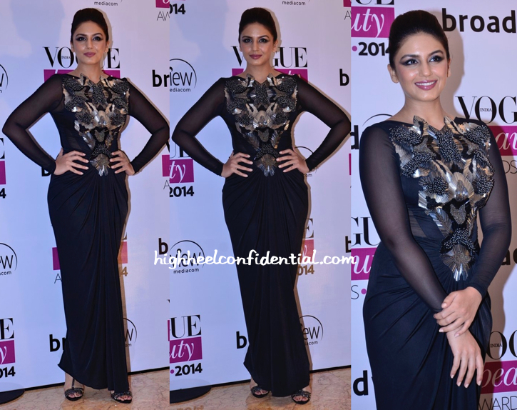 Huma Qureshi In Amit Aggarwal At Vogue Beauty Awards 2014