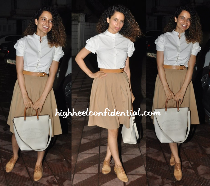 Kangna Ranaut In Michael Kors At Sanjay Leela Bhansali's Party Held For Priyanka Chopra-1