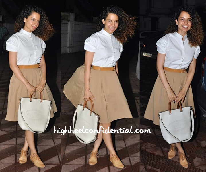 Kangna Ranaut In Michael Kors At Sanjay Leela Bhansali's Party Held For Priyanka Chopra