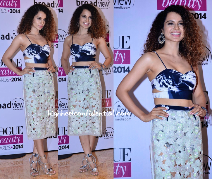 Kangna Ranaut In Namrata Joshipura and tom ford at vogue beauty awards 2014