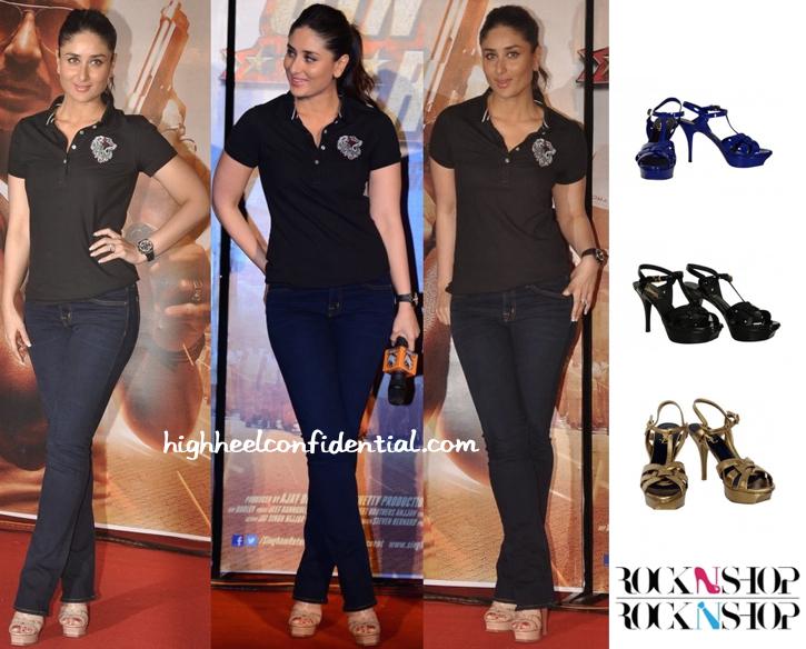 Kareena Kapoor Wears Her Trusty YSL Tribs To The 'Singham 2' Trailer Launch