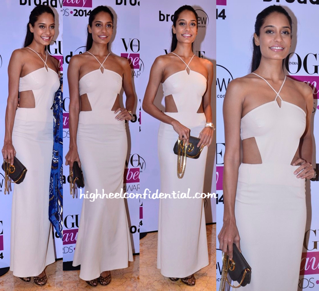 Lisa Haydon In Deme by Gabriella At Vogue Beauty Awards 2014