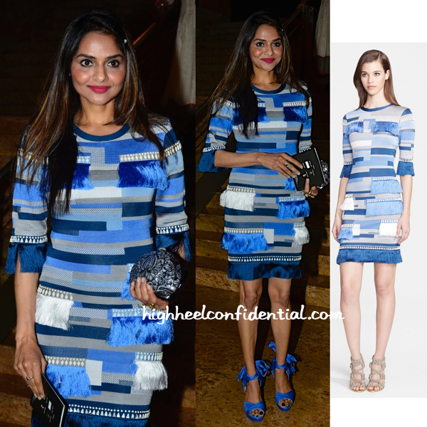 Madhoo Shah Spotted In Herve Leger At IIJW 2014