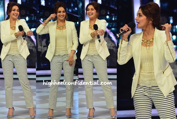 Madhuri Dixit In Zara And Malene Birger On Jhalak Dikhla Jaa Sets-1