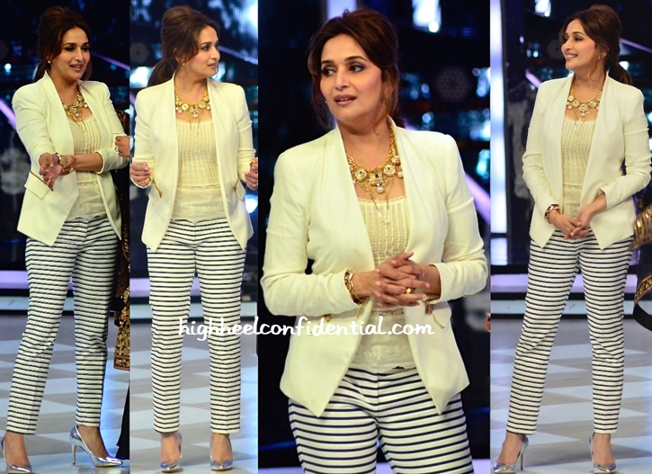 Madhuri Dixit In Zara And Malene Birger On Jhalak Dikhla Jaa Sets-2