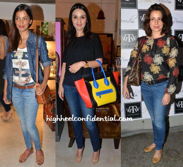Mugdha Godse, Anu Dewan And Neelam Kothari At The White Window-2