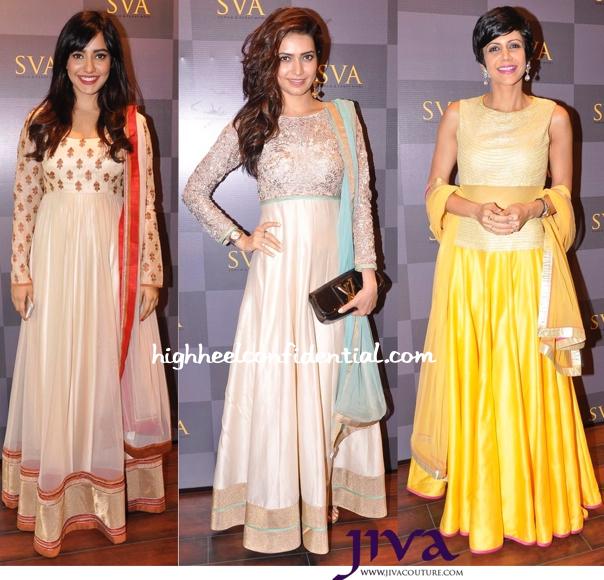Neha Sharma, Karishma Tanna And Mandira Bedi At SVA Signature Studio Launch-1