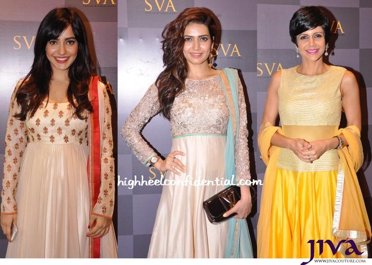 Neha Sharma, Karishma Tanna And Mandira Bedi At SVA Signature Studio Launch-2