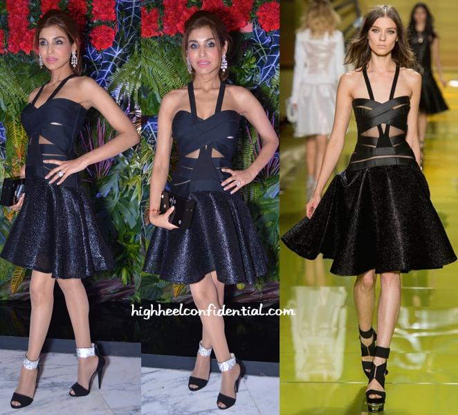 Niamat Bakshi In Versace At Hello! Magazine's Anniversary Do