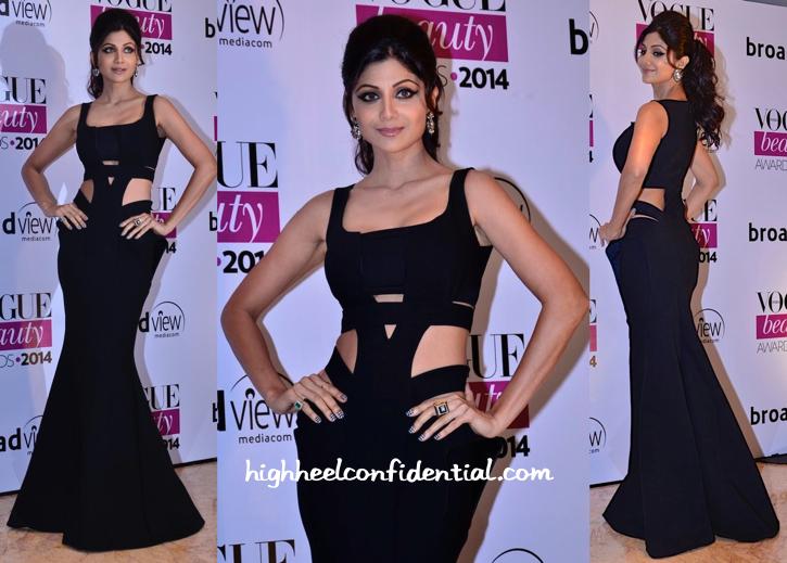 Shilpa Shetty At Vogue Beauty AWards 2014 In Monisha Jaising