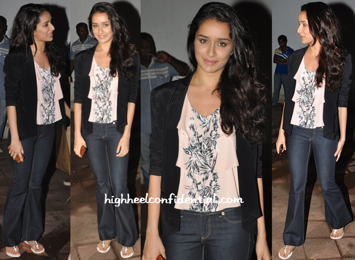 Shraddha Kapoor In Zara At Sanjay Leela Bhansali's Party
