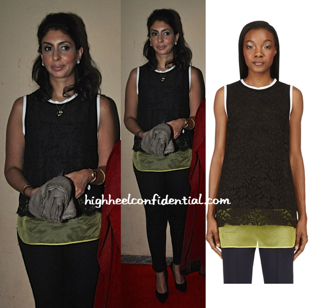 Shweta Bachchan Nanda In MSGM At Lekar Hum Deewana Dil Premiere