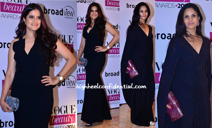 Sona Mohapatra And Pratima Gaurav At Vogue Beauty Awards 2014