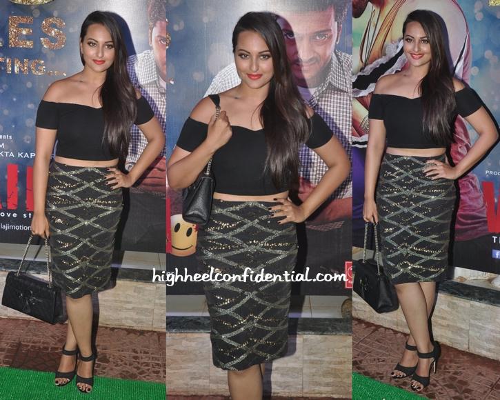 Sonakshi Sinha In Asos And Zara Umrigar At Ek Villain's Success Bash