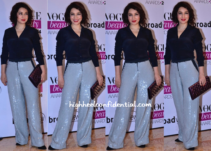 Tisca Chopra In ASOS At Vogue Beauty Awards 2014