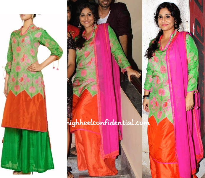 Vidya Balan In Swati Vijaivargie At 'Bobby Jasoos' Screening-1