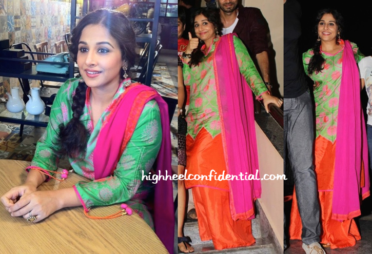 Vidya Balan In Swati Vijaivargie At 'Bobby Jasoos' Screening-2