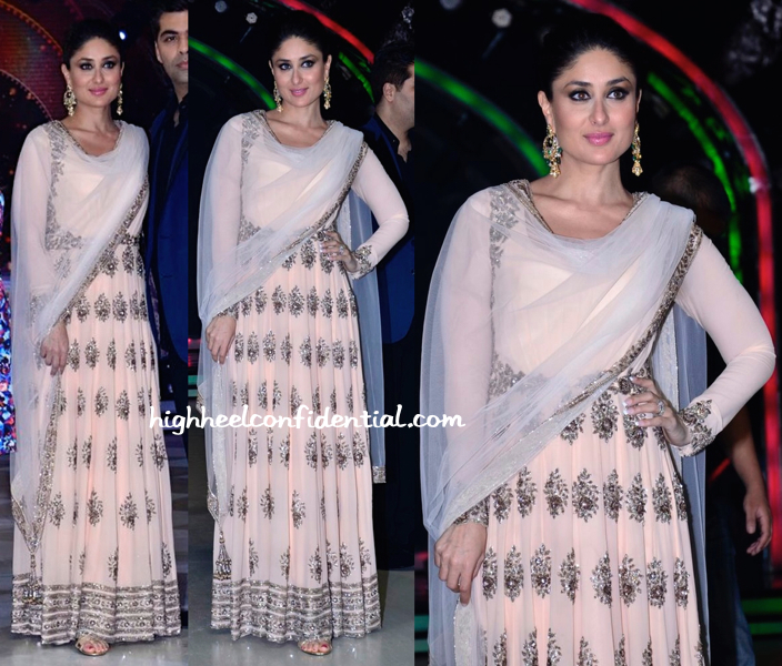 Wearing Manish Malhotra, Kareena Kapoor Promotes Singham Returns On Jhalak Dikhhla Jaa Sets-1
