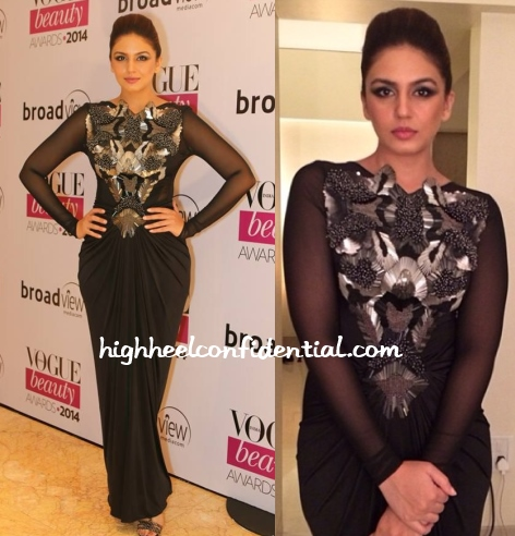 huma-qureshi-amit-aggarwal-vogue-beauty-awards-2014
