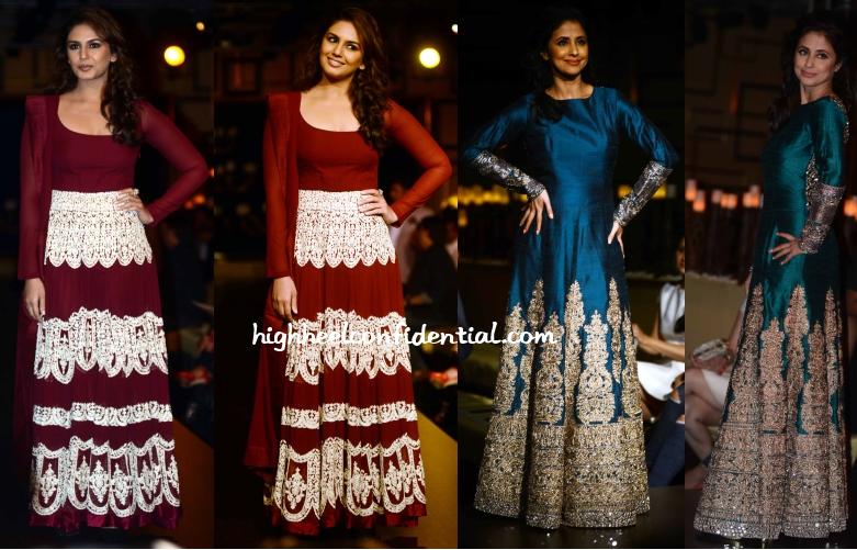 huma-qureshi-urmila-matondkar-manish-malhotra-couture-week-2014