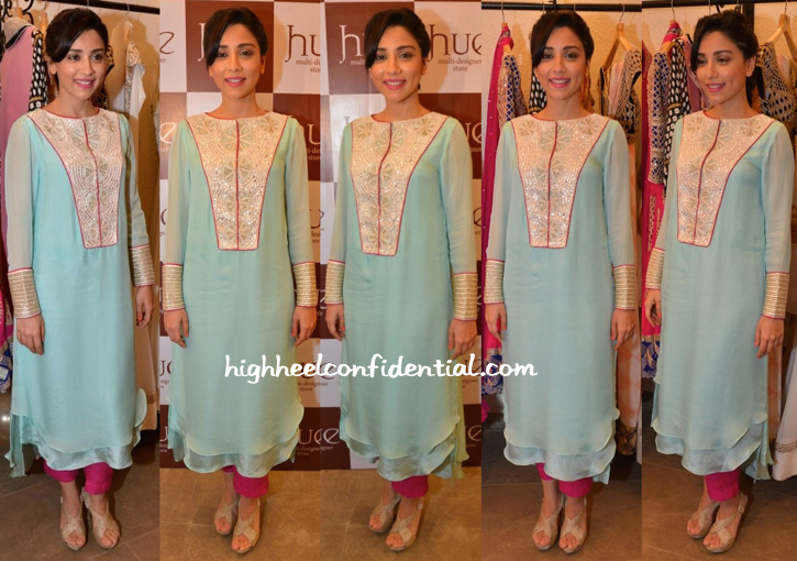 Amrita Puri Wears Ritika Mirchandani To The Designer's Preview At Hue