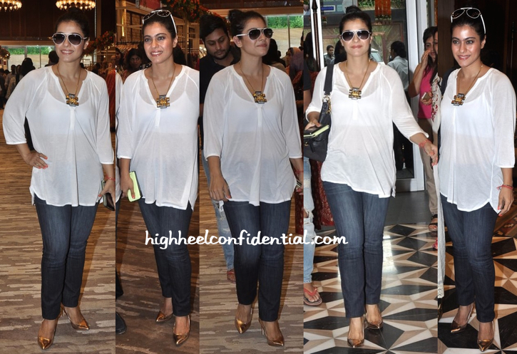 Kajol At Araaish 2014 Exhibition In Zara And Guess