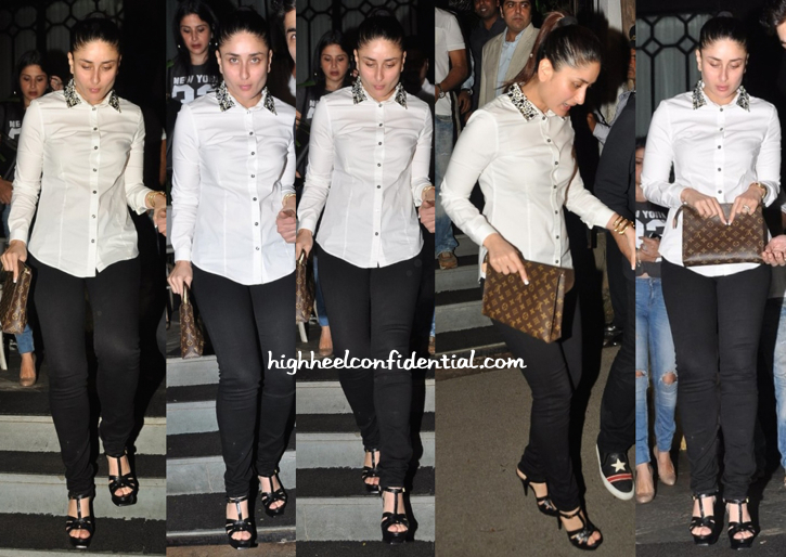 Kareena Kapoor Photographed Exiting Nido In Mumbai