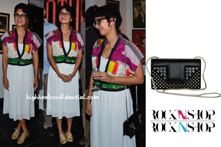 Kiran Rao totes a Saint Laurent bag to an art show