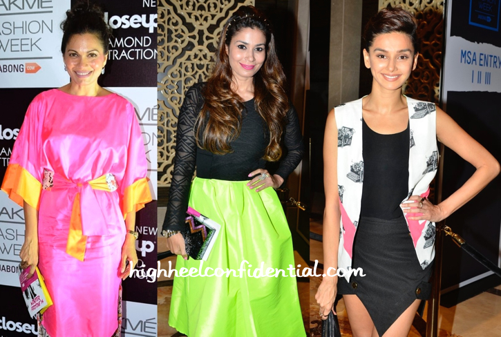 Maria Goretti, Shaheen Abbas And Shibani Dandekar At LFW Winter-Festive 2014-2