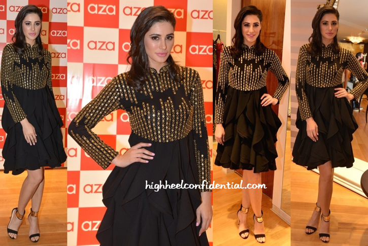 Nargis Fakhri In Malini Ramani And Varun Bahl At Aza Store Launch