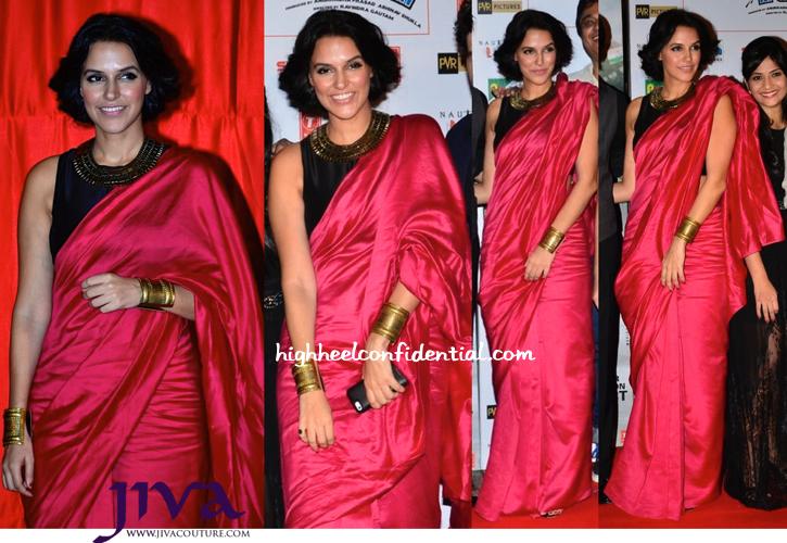 Neha Dhupia In Payal Singhal At 'Ekkees Toppon Ki Salaami' Trailer Launch-2