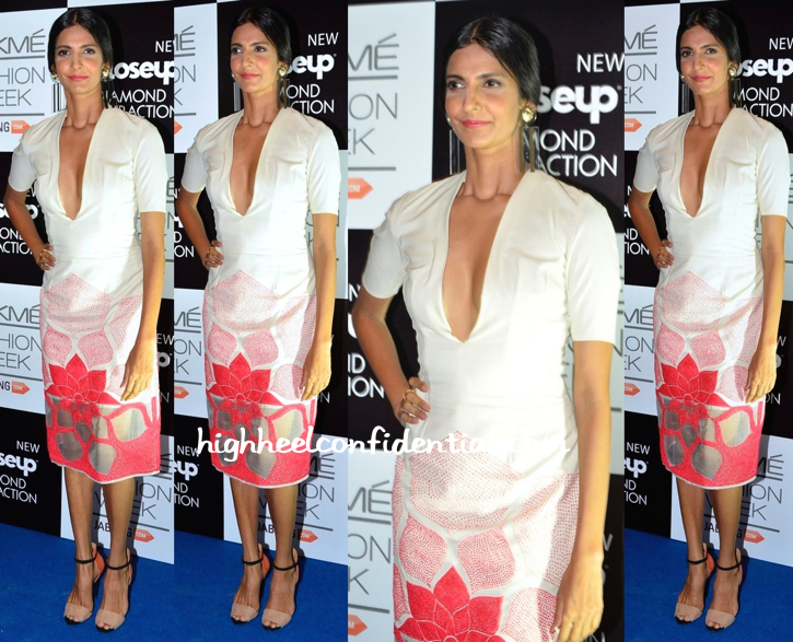 Poorna Jagannathan In Rahul Mishra At LFW Winter-Festive 2014