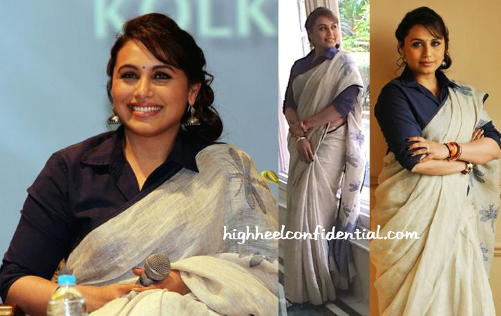 Rani Mukherjee Wears Anavila To 'Mardaani' Promotions In Kolkata