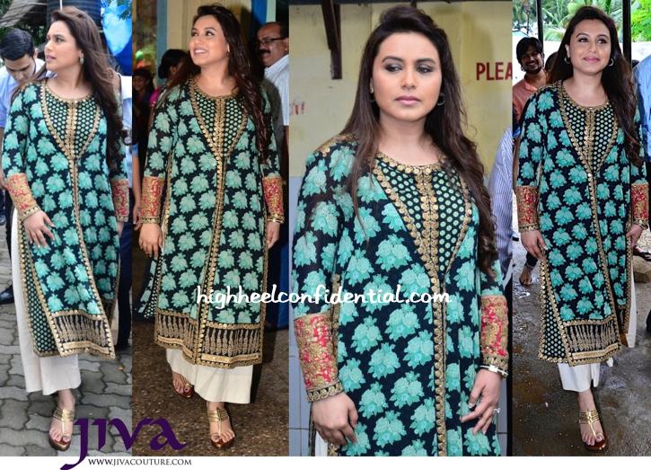 Rani Mukherjee Wears Sabyasachi To 'Mardaani' Promotions-1