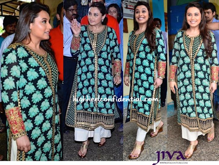 Rani Mukherjee Wears Sabyasachi To 'Mardaani' Promotions-2