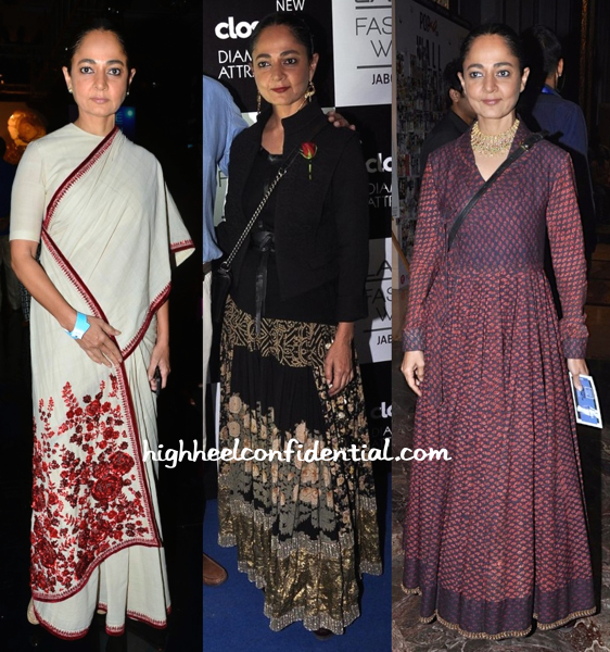 Sabina Chopra Wears Sabyasachi To Lakme Fashion Week 2014 Presentations
