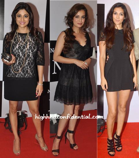Shamita Shetty, Dia Mirza And Preeti Desai At The Recent Fashion Label Launch-1