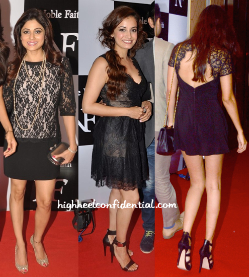 Shamita Shetty, Dia Mirza And Preeti Desai At The Recent Fashion Label Launch-2